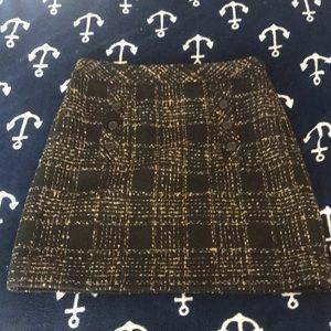 Loft Tweed Mini Skirt Black Tan 2P
